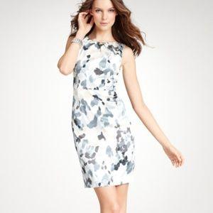Ann Taylor Silk Silent Clusters sheath dress
